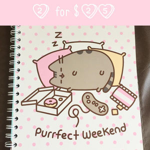 Pusheen the Cat Notebook + Stickers - NEW! 🎈